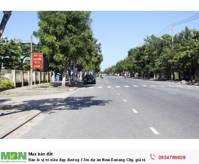 Bán lô vị trí siêu đẹp đường 7.5m dự án New Danang City, giá rẻ