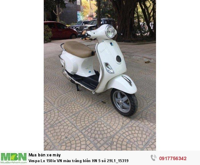 Vespa Lx 150ie VN màu trắng biển HN 5 số 29L1_15319