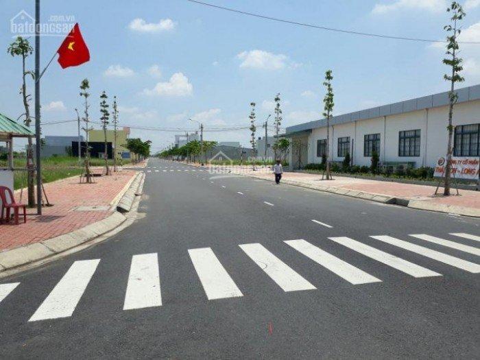 Bán đất KDC Long Hậu, Nhà Bè mặt đường 12m dt 5x20 100m2 giá 720tr/nền SHR