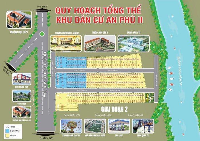 Bán đất mt ql50 shr 650tr/nền,ngay chợ Bình Hưng .