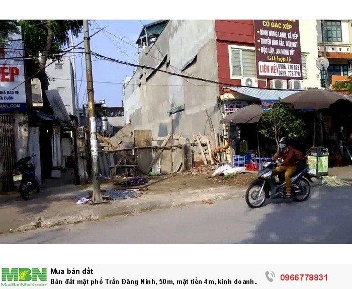 Bán đất mặt phố Trần Đăng Ninh, 50m, mặt tiền 4m, kinh doanh đỉnh.
