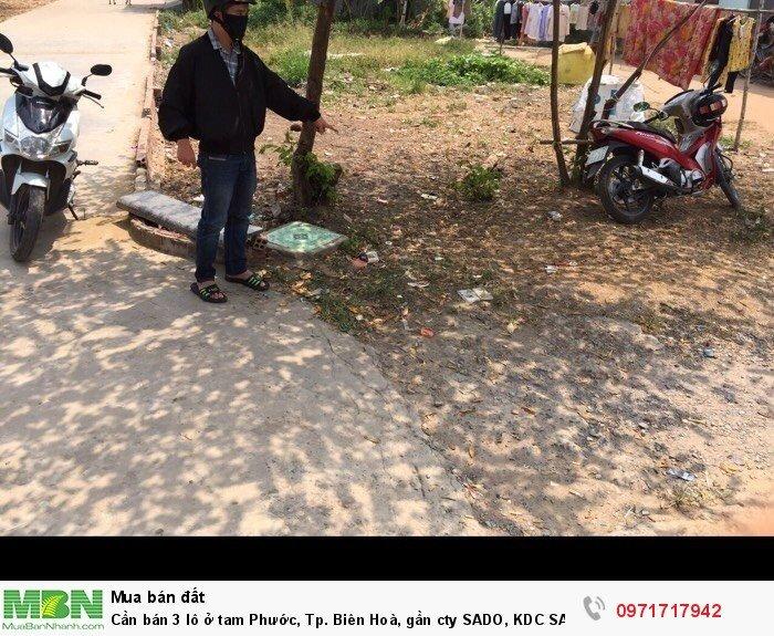 Cần bán 3 lô ở tam Phước, Tp. Biên Hoà, gần cty SADO, KDC SADO