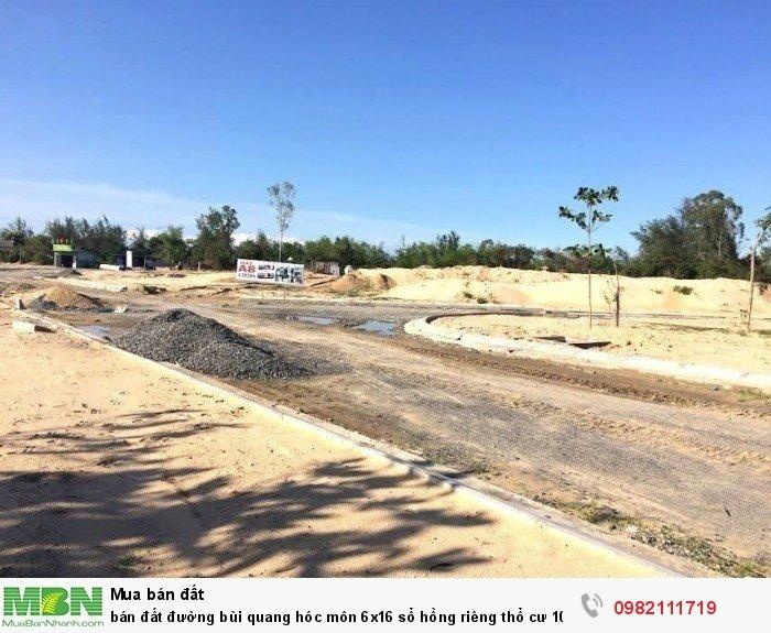 Bán đất đường Bùi Quang Hóc Môn 6x16 sổ hồng riêng thổ cư 100%