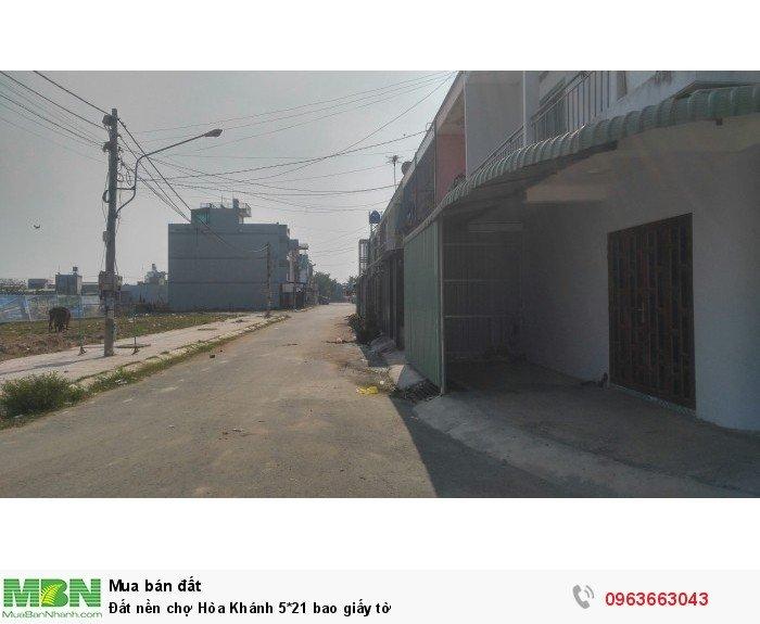 Đất nền chợ Hòa Khánh 5*21 bao giấy tờ