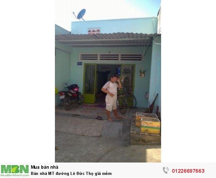 Bán nhà MT đường Lê Đức Thọ giá mềm