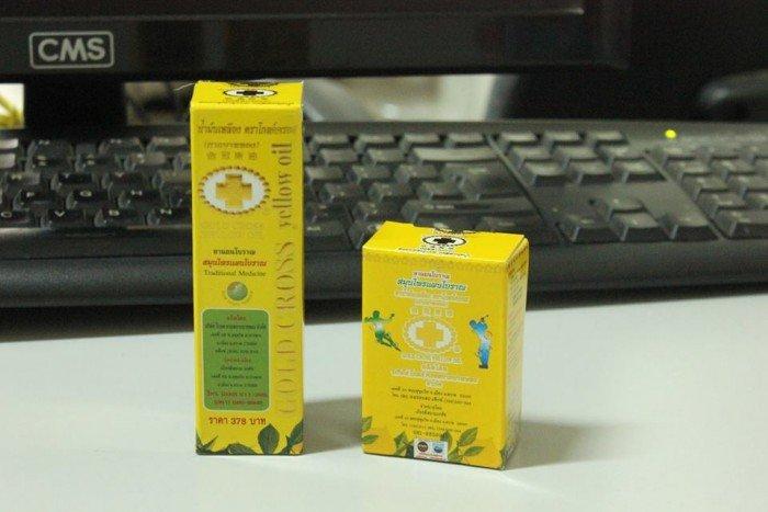 Dầu Thập tự vàng  là một thương hiệu nổi tiếng của đất nước Thái Lan, đã qua kiểm định 100% thảo dược an toàn cho sức khỏe, không pha cồn, không chứa các chất giảm, không chứa các chất gây nghiện. Dầu Thập tự vàng có rất nhiều công dụng như chữa cảm cúm, sốt, sổ mũi, bị ho, viêm họng, ngứa trong cổ, cứng ngón tay, nhức mỏi vùng cổ, vai, đau lưng, nhức đầu gối, bỏng nước sôi, lửa, côn trùng cắn, chóng mặt, nhức đầu, lờ đờ, run rẩy, bị thương do té ngã, dao cứa, tróc da, u đầu, gai đâm, đau nhức răng, đau bụng, đau bụng kinh...11