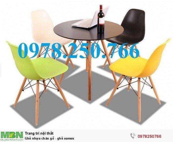 ghế nhựa chân gỗ Tp. HCm, ghế eames quận 1, ghế quán trà sữa, quận 2,0