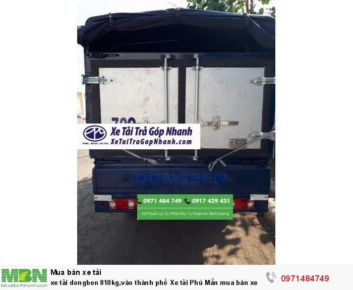 xe tải dongben 810kg,vào thành phố Xe tải Phú...