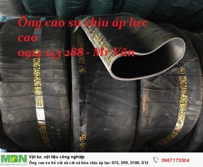 Ống cao su bố vải  D76, D90, D100, D120, D125, D150,.... D3006