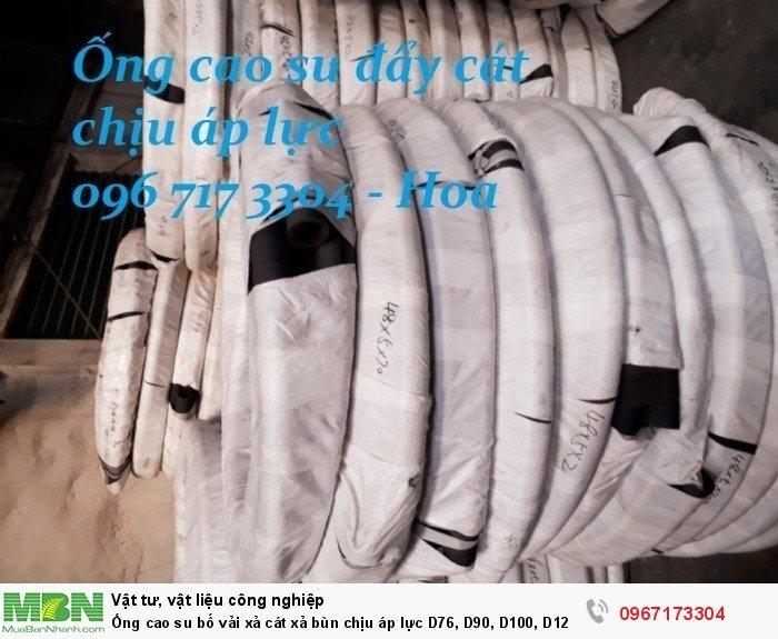 Ống cao su bố vải  D76, D90, D100, D120, D125, D150,.... D30011
