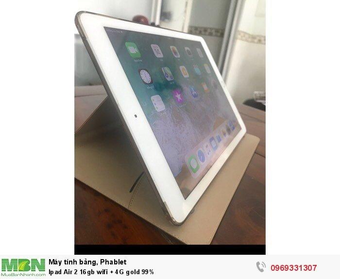 Ipad Air 2 16gb wifi + 4G gold 99%4