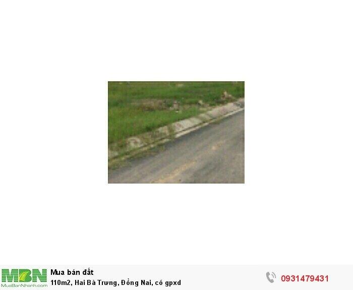 110m2, Hai Bà Trưng, Đồng Nai, có gpxd
