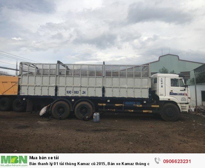 Bán thanh lý 01 tải thùng Kamaz cũ 2015, Bán xe Kamaz cũ thùng 7m8 (2015)
