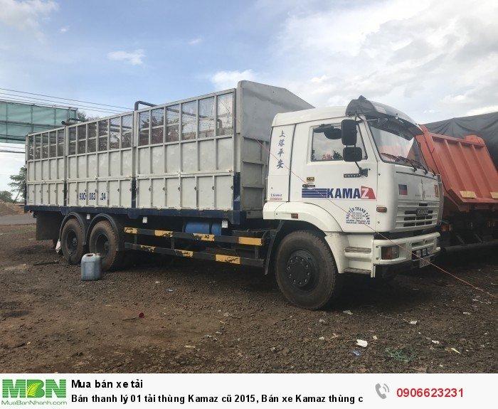 Bán thanh lý 01 tải thùng Kamaz cũ 2015, Bán xe Kamaz thùng cũ 3