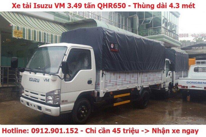 Xe tải Isuzu 3.49 tấn/3T49 (3 tấn 49)/ 3.5 tấn - Hỗ trợ vay vốn 90%