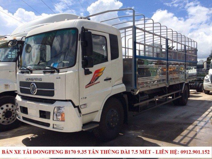 Bán xe tải Dongfeng B170 9.35 tấn - 9T35 - 9.350kg trả góp 90%, lãi suất ưu đãi