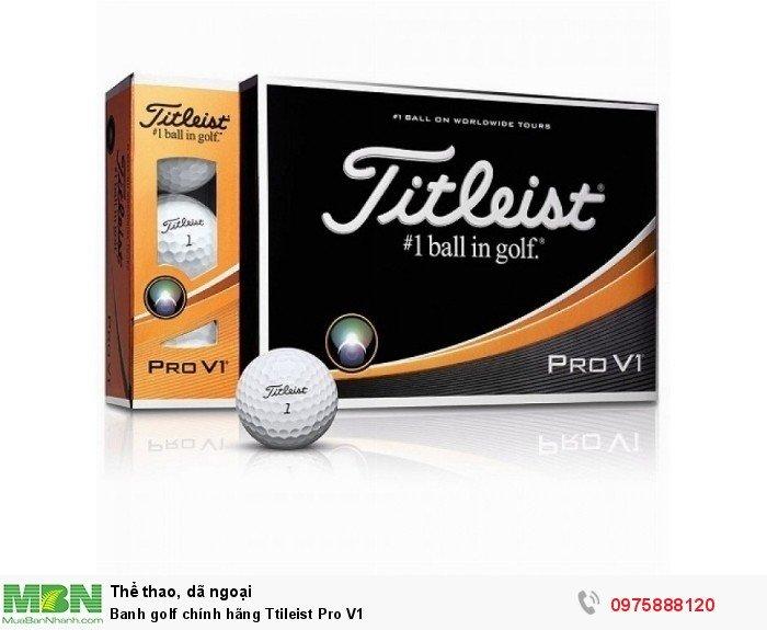 Banh golf chính hãng Ttileist Pro V10