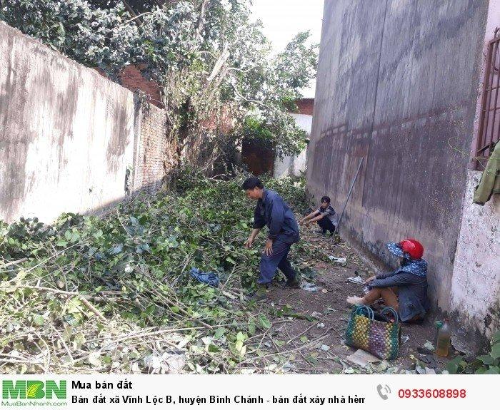 Bán đất xã Vĩnh Lộc B, huyện Bình Chánh - bán đất xây nhà hẻm xe hơi