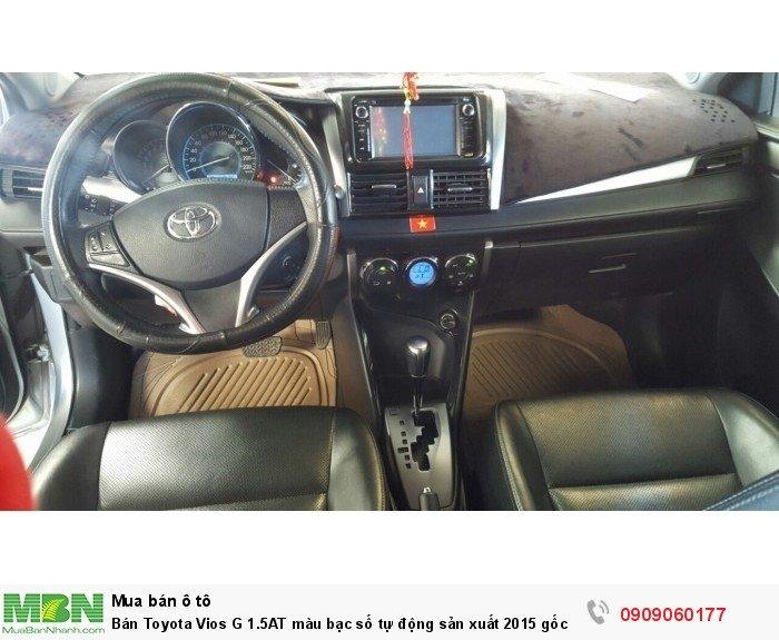 Bán Toyota Vios G 1.5AT màu bạc số tự động sản xuất 2015 gốc Sài Gòn 3