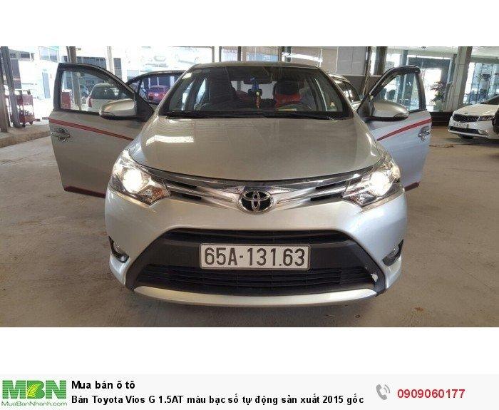Bán Toyota Vios G 1.5AT màu bạc số tự động sản xuất 2015 gốc Sài Gòn 7
