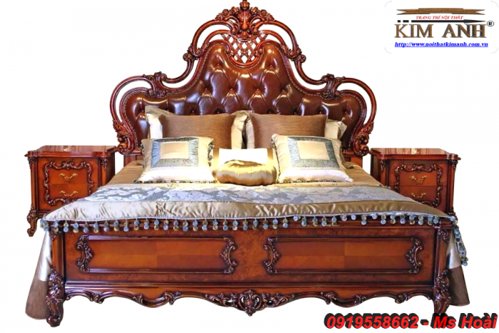 [12] Giường ngủ cổ điển TPHCM, bộ phòng ngủ cổ điên giá rẻ