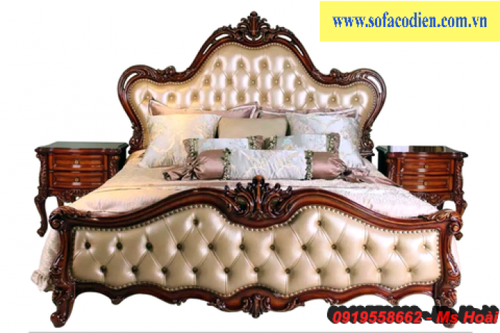 [10] Giường ngủ cổ điển TPHCM, bộ phòng ngủ cổ điên giá rẻ
