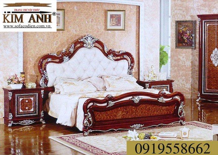 [9] Giường ngủ cổ điển TPHCM, bộ phòng ngủ cổ điên giá rẻ