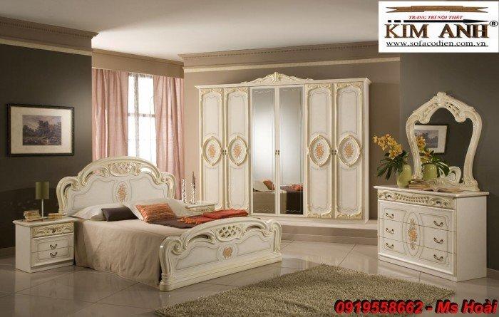 [7] Giường ngủ cổ điển TPHCM, bộ phòng ngủ cổ điên giá rẻ