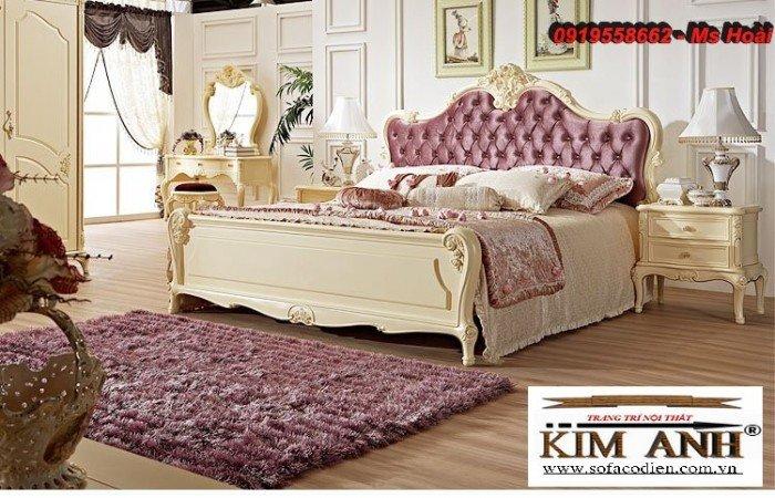 [3] Giường ngủ cổ điển TPHCM, bộ phòng ngủ cổ điên giá rẻ