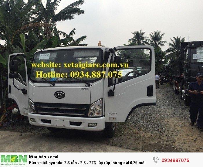 Bán xe tải hyundai 7.3 tấn - 7t3 - 7T3 lắp ráp thùng dài 6.25 mét