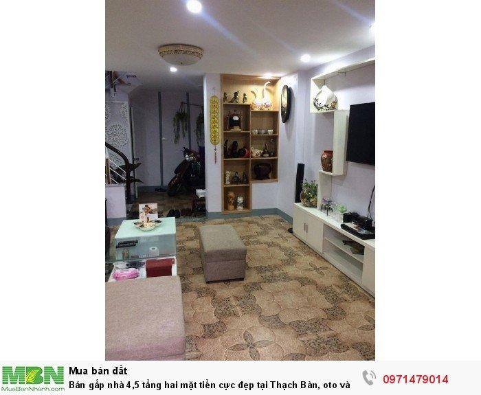 Bán gấp nhà 4,5 tầng hai mặt tiền cực đẹp tại Thạch Bàn, oto vào nhà.