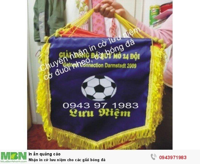 Nhận in cờ lưu niệm cho các giải bóng đá