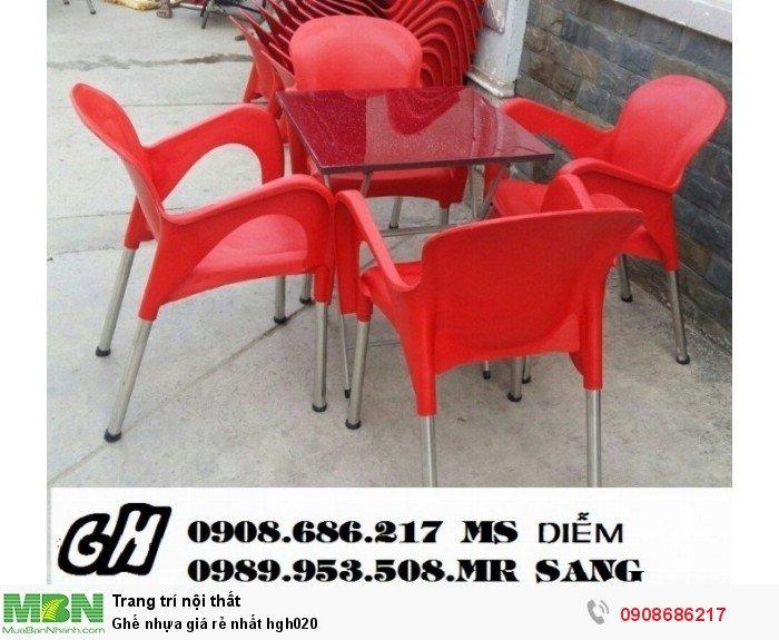 Ghế nhựa giá rẻ nhất hgh0200