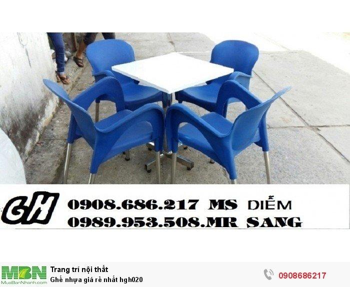 Ghế nhựa giá rẻ nhất hgh0203