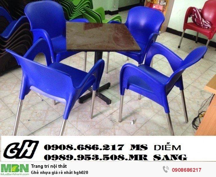 Ghế nhựa giá rẻ nhất hgh0204