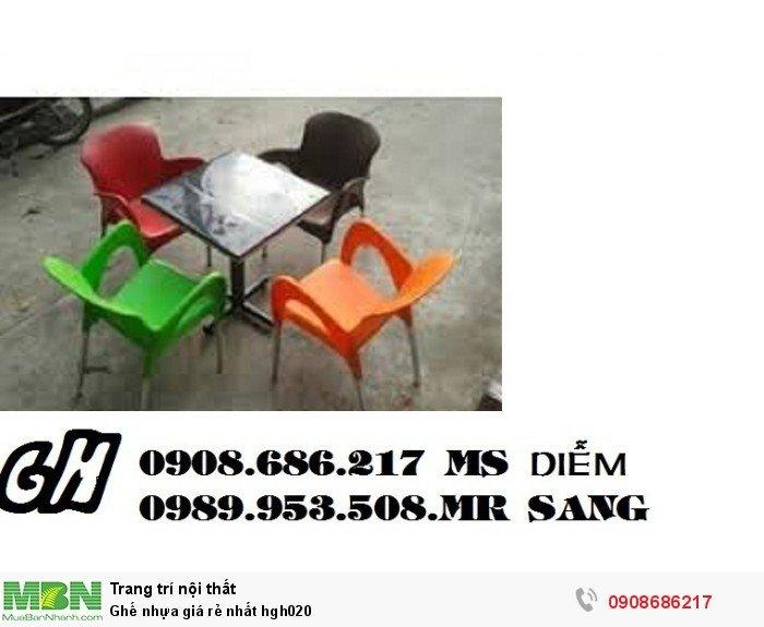 Ghế nhựa giá rẻ nhất hgh0205