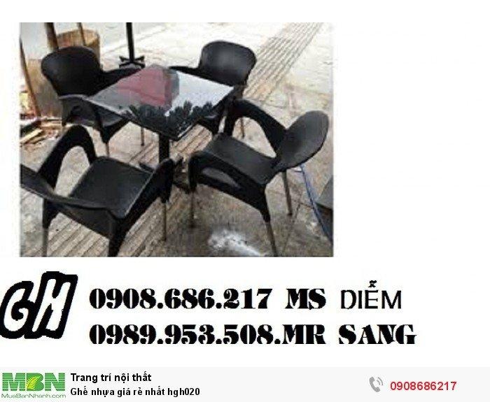 Ghế nhựa giá rẻ nhất hgh0206