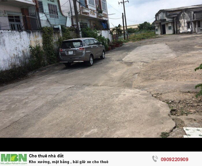 Kho xưởng, mặt bằng , bãi giữ xe cho thuê