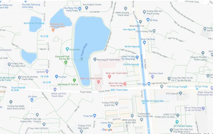 Bán đất Thanh Nhàn 79m2 mặt tiền 4,2m
