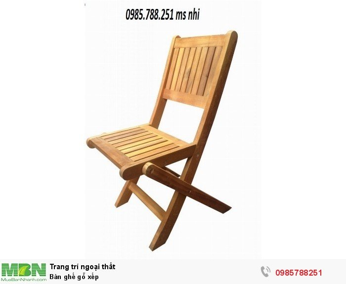 Bàn ghế gỗ xếp1