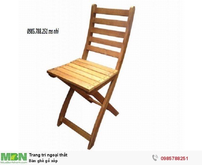 Bàn ghế gỗ xếp2