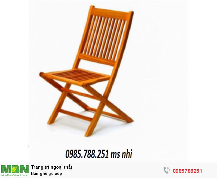 Bàn ghế gỗ xếp3