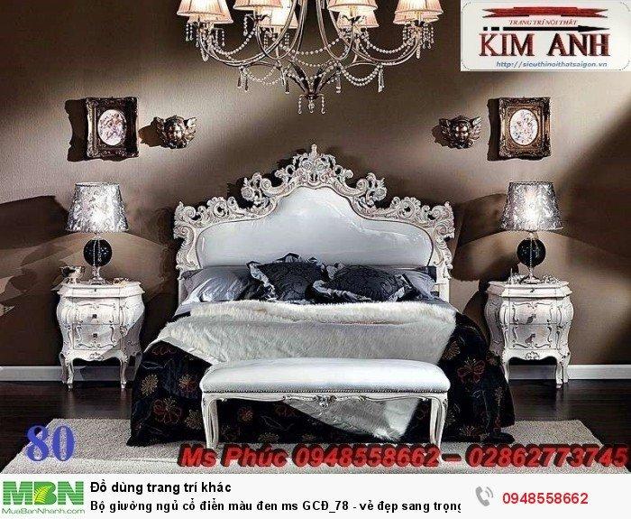 Bộ giường ngủ cổ điển màu đen ms GCĐ_78  - vẻ đẹp sang trọng, đẳng cấp đẹp lạ3