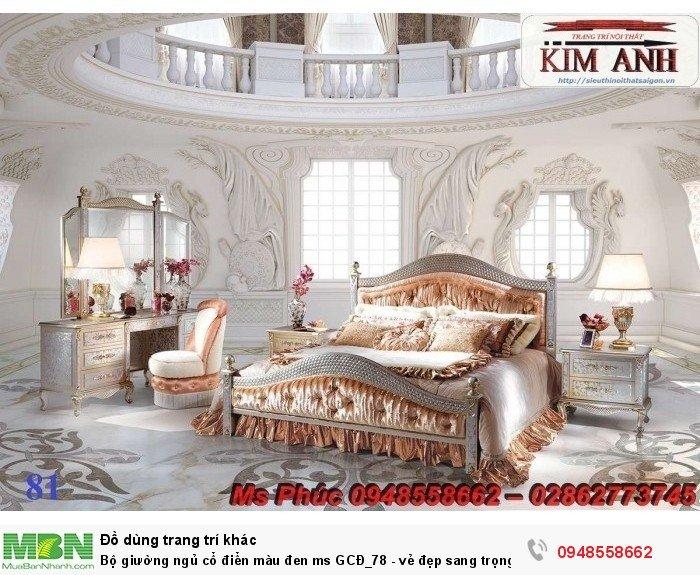 Bộ giường ngủ cổ điển màu đen ms GCĐ_78  - vẻ đẹp sang trọng, đẳng cấp đẹp lạ4