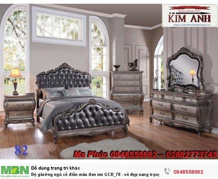 Bộ giường ngủ cổ điển màu đen ms GCĐ_78  - vẻ đẹp sang trọng, đẳng cấp đẹp lạ5