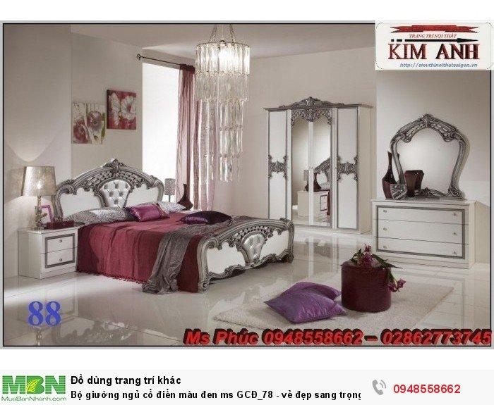 Bộ giường ngủ cổ điển màu đen ms GCĐ_78  - vẻ đẹp sang trọng, đẳng cấp đẹp lạ6