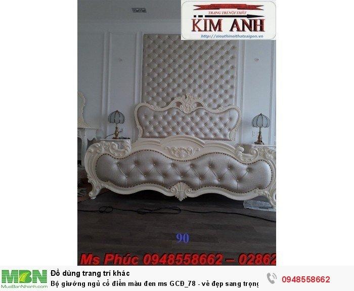 Bộ giường ngủ cổ điển màu đen ms GCĐ_78  - vẻ đẹp sang trọng, đẳng cấp đẹp lạ8