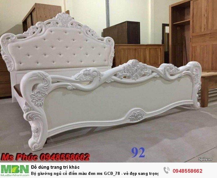 Bộ giường ngủ cổ điển màu đen ms GCĐ_78  - vẻ đẹp sang trọng, đẳng cấp đẹp lạ9