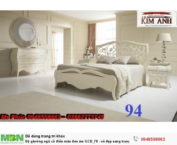 Bộ giường ngủ cổ điển màu đen ms GCĐ_78  - vẻ đẹp sang trọng, đẳng cấp đẹp lạ10