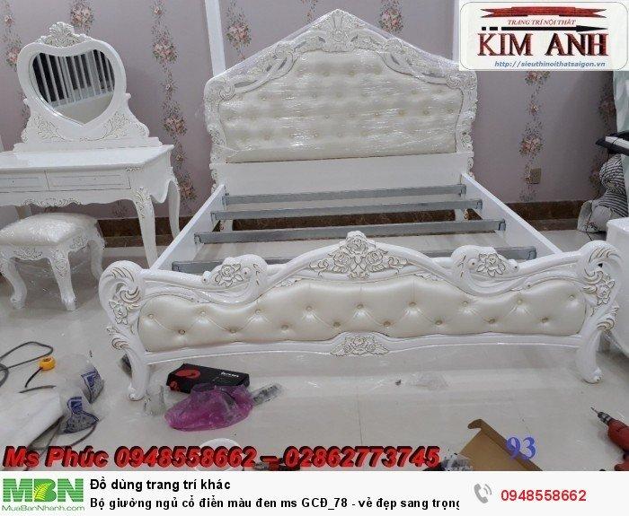 Bộ giường ngủ cổ điển màu đen ms GCĐ_78  - vẻ đẹp sang trọng, đẳng cấp đẹp lạ11